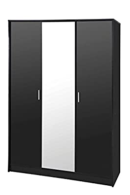 Direct Furniture Suppliers Khabat 3 Door Mirror Wardrobe - inexpensive UK wordrobe store.