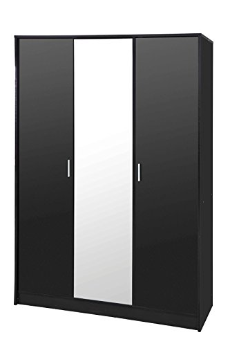 high-gloss-bedroom-furniture-khabat-black-gloss-black-oak-3-door-mirrored-wardrobe