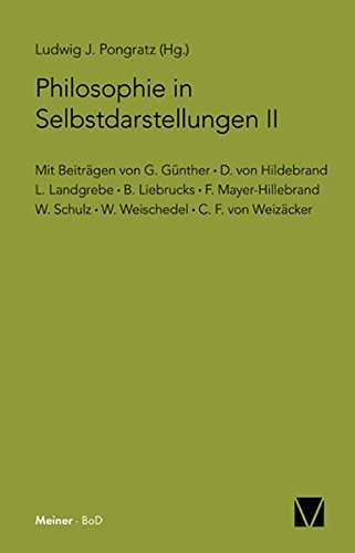 Philosophie in Selbstdarstellungen. Bd. 2