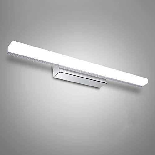 Lampada specchio bagno – 12w/50cm applique da parete interno moderno,luci da specchio bagno,mobile bagno led acciaio inossidabile e acrilico, luce bianca