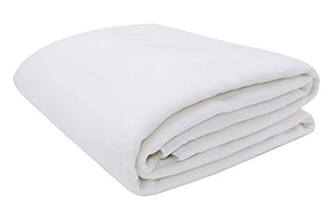 ZOLLNER® trendige Kuscheldecke / Wolldecke / Wohndecke / Tagesdecke weiß 150x200 cm, in weiteren Farben und Größen erhältlich, vom Hotelwäschespezialisten, Serie