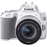 Canon EOS 250D Digitalkamera (24,1 Megapixel, 7,7 cm (3 Zoll) Vari-Angle Display, APS-C-Sensor, 4K, Full-HD, DIGIC 8, WLAN, Bluetooth), weiß, inkl. EF-S 18-55mm f/4-5.6 IS STM Objektiv silber