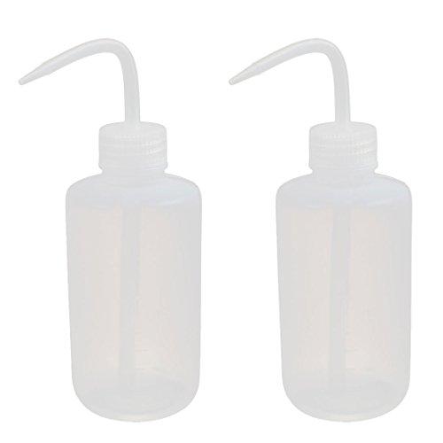 sourcingmap® 2Stk 250ml LDPE Wirtschaft Waschen Flaschen Spritzen Flaschen Label Tattoo de -
