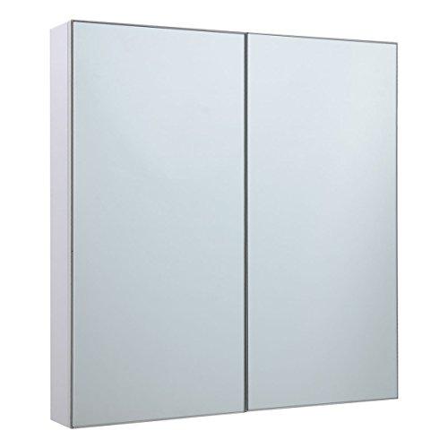 Spiegelschrank-Badezimmer-Badezimmerspiegelschrank-Wandschrank-Hngeschrank-Front-Spiegel-Badmbel-65x62x11cm-2-trig