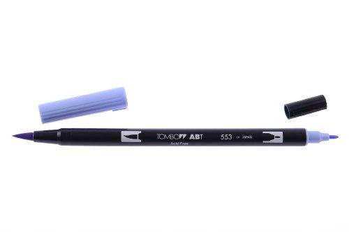 Tombow ABT-553 Fasermaler ABT Dual Brush Pen mit zwei Spitzen, mist purple
