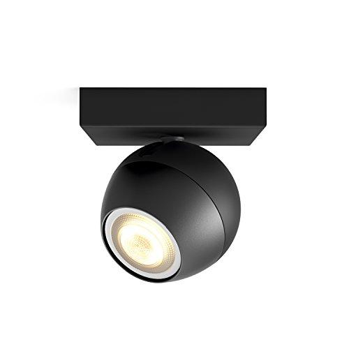 Philips Hue LED Spot Buckram Erweiterung, dimmbar, alle Weißschattierungen, steuerbar via App, schwarz, kompatibel mit Amazon Alexa (Echo, Echo Dot)