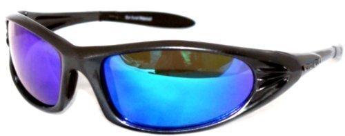 2-Ton gruen/blau reflektierenden polarisierten Glaesern Sportsonnenbrille, polarisierte Hornet Sportsonnenbrille,inklusive Brillenetui, Putztuch und - Maverick Glas