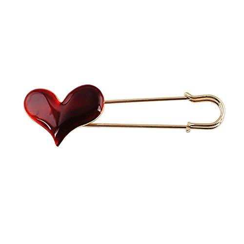 Sticks Jewelry Spilla con cuore, ideale per sciarpe, scialle e felpe