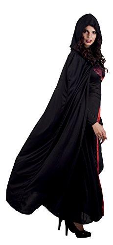 Schwarzer Kapuze Kostüm Mit Umhang - Umhang mit Kapuze Wächter der Nacht 180 cm