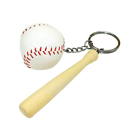LIOOBO Baseball Keychain Sport Softball Schlüsselanhänger Charme Anhänger Dekorative Schlüsselanhänger Tasche Anhänger Größe L