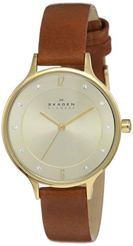 Skagen Damen-Armbanduhr SKW2147, gold/braun
