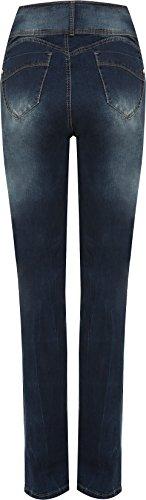 WEARALL - Femmes Plus Ripped Affligé Délavé Pantalon Pantalon Dames Maigre Jambe Toile De Jean Jeans - 44-54 Bleu