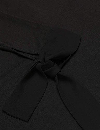 Meaneor Femme Robe A Volant Classique Vintage Dress Plissée Manches 3/4 Casual Soirée Multicolore