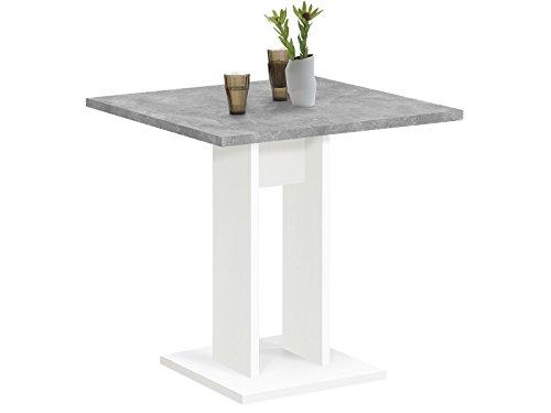 """Esszimmertisch Küchentisch Esstisch Holztisch Speisetisch Tisch \""""Yvette I\"""" Weiß/Beton LA"""