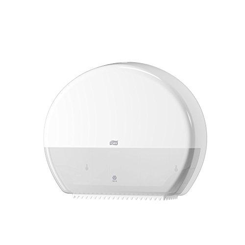 Tork 554000 Dispensador de papel higiénico Jumbo/Sistema T1 de papel higiénico Elevation/Blanco