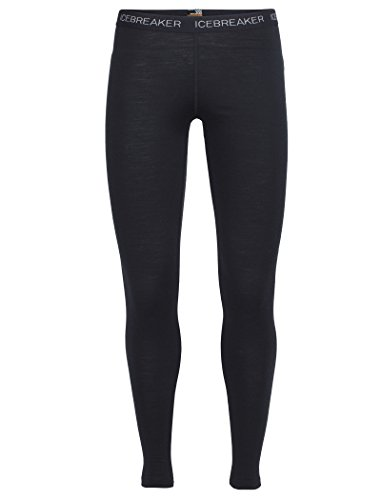 Icebreaker Damen Funktionshose Oasis Leggings, Black, XL, 100521001 (Outdoor-wolle-hose)