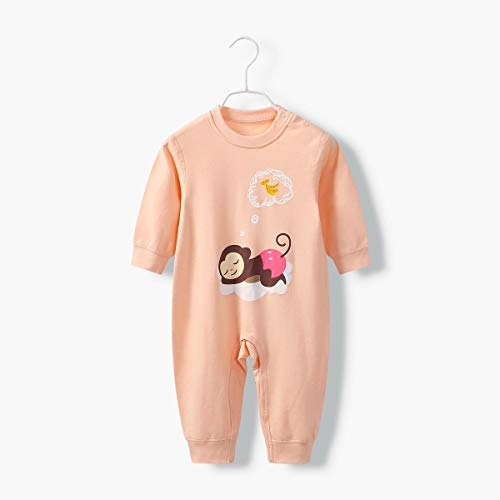 (HUACANG Baby Kind Siamesischer Schlafanzug Baumwollstoff Im Frühling Warm Halten Pyjamahose Eingestellt Verschiedene Spezifikationen 1-5 Jahre Alt (Farbe : Monkey, Size : 100cm))