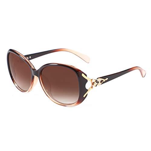 Lin-Tong Sonnenbrillen für Damen, Klassische Modesonnenbrillen Im Diamond Design für Outdoor Enthusiasten
