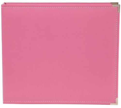 Snap Leder Binder 12Zoll x 12Zoll, Pink (Leder-binder 12x12)