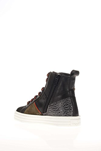 Hogan Rebel Junior Kinder Sneaker High hxc1410u771e7h0s1R141Mid Cut Zip Foresta