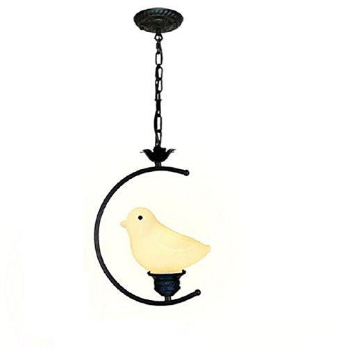LVYI Hängelampe Vogel Pendelleuchte Leuchten Für Kinder Kinderlampe Vogel Lampe Affenschaukel ,20*H30CM