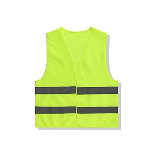 Cosanter-1-Stck-Warnweste-Auto-Unfallweste-Pannenweste-Sicherheitsweste-Neongelb-fr-Cleaners-Gartenarbeiter-Sanitation-Arbeiter-Spezielle-Arbeitskleidung