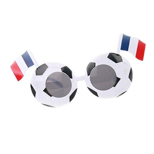 Baoblaze WM Olympia Fan Fanmeile Fanartikel Deutschland-Sonnenbrille Fußball Spaßbrille Länderbrille Olympia Fußball Flagge Style - Frankreich
