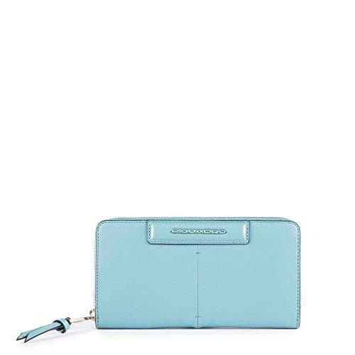 Portafoglio Donna Cerniera Semplice | Piquadro Splash | PD1515SPLR-Azzurro/Sabbia