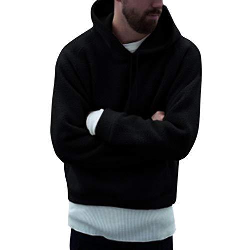Fashion Men s Autumn Winter Warm Casual Loose Felt Plush Hoodie Coat Top by  LuckyGirls de1caf8e7d3