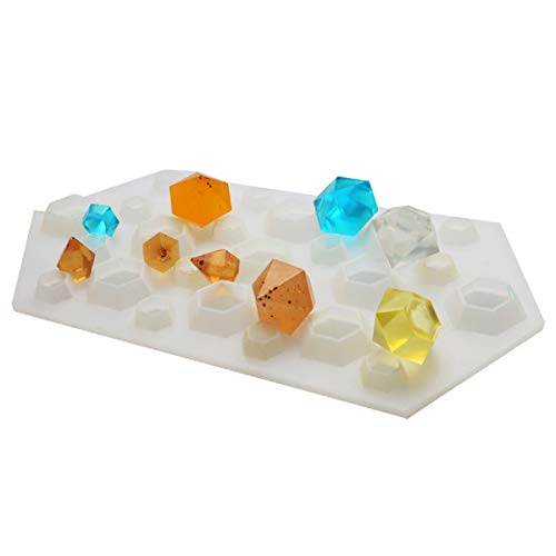 Yalulu Diamanten DIY Silikon Anhänger Basteln Gießform Schmuck Mold Schmuck Gießform Halskette Mould Eiswürfelschale Schimmel - Moulds Molds Silikon