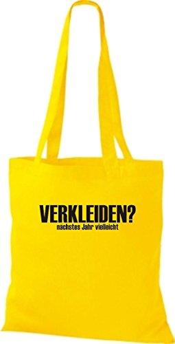 ShirtInStyle Stoffbeutel Karneval VERKLEIDEN nächstes Jahr vielleicht, Kostüme verkleiden, viele Farben gelb