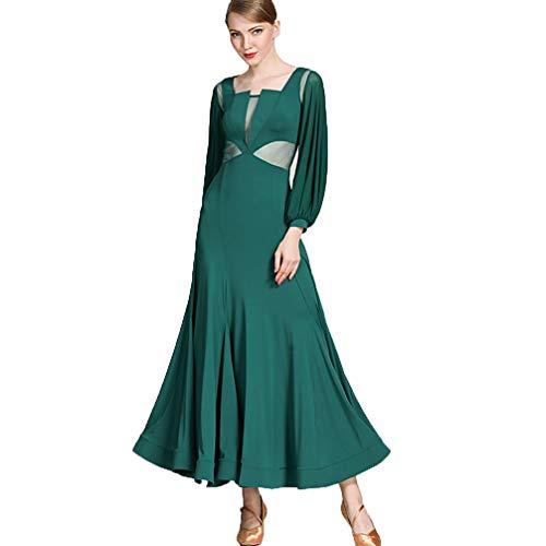 MoLiYanZi Modernes Ballsaal-Tanz-Kleid für Frauen Performance Kostüm Nationaler Standardtanz Sozialtanz Waltz Wettbewerb Kleid, ()