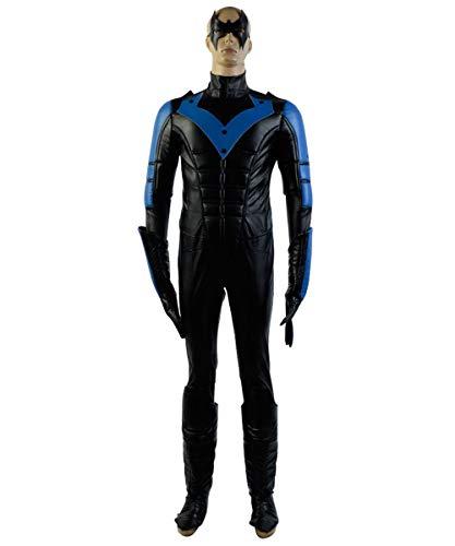 (MingoTor Superheld Jumpsuit Outfit Cosplay Kostüm Herren XS)