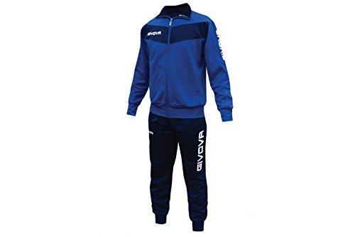 givova-tuta-visa-training-allenamento-calcio-running-sport-tracksuit-uomo-donna-azzurro-blu-s