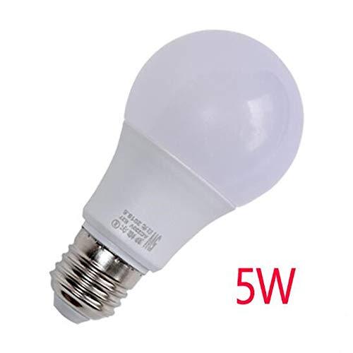 Licht Kronleuchter 5 100w Glühbirnen (Multi-Style-Haushalt LED-Licht warm, weiß, natürliche Glühbirne Lichtkugel 3W, 5W, 7W B22 (Bajonett) positives weißes Licht 60 * 108mm)