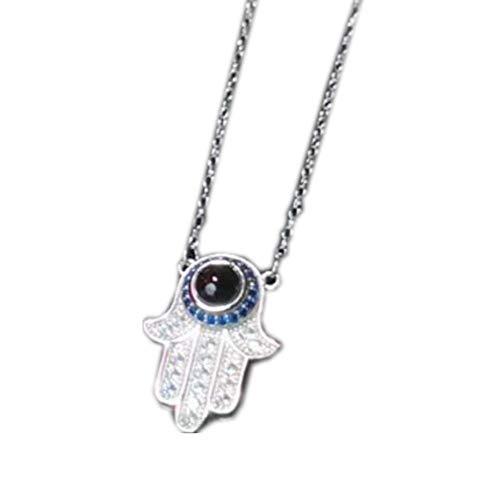 Y.Verve Namenskette Unendlichkeits Persönalisierte 100 Sprache Ich Liebe Dich Namen Halskette 941 Sterling Silber(Silber 16 15.75)