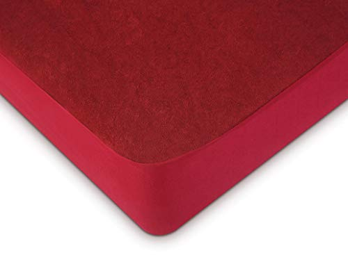 "Uppercut Waterproof and Dustproof Cotton Terry Mattress Protector - 78""x60"", Maroon"