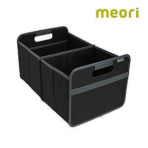 meori Faltbox Large in Schwarz – Stabile Klappbox L mit Griffen – die perfekte Allzweck Aufbewahrungslösung – Tragkraft…