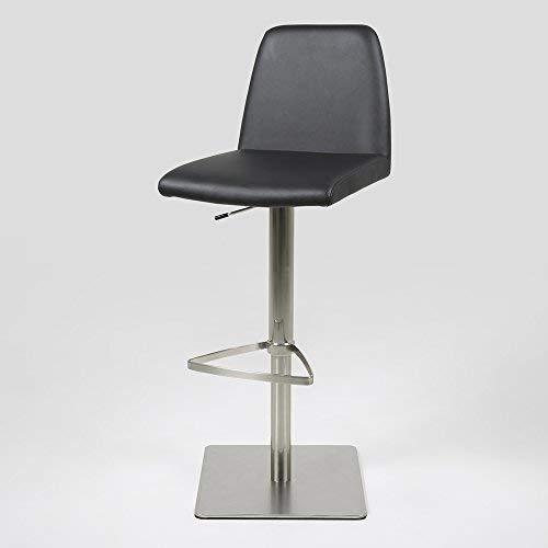 Nickel Gebürstet Füße (lounge-zone Barhocker Barstuhl Design Hocker AMAGO Kunstleder schwarz Fuss Nickel gebürstet 12604)