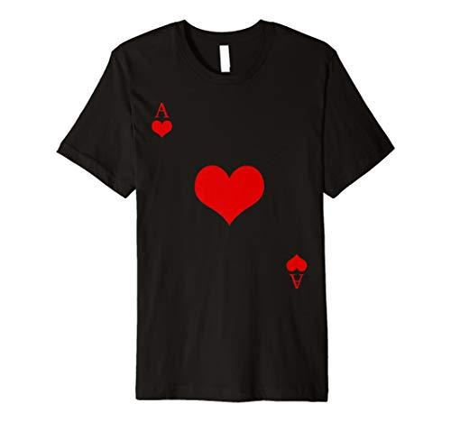 ACE OF HEARTS Funny Spielkarten Halloween T-Shirt