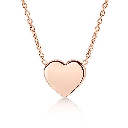 LENIRA Frauen Herz Halskette (Roségold)