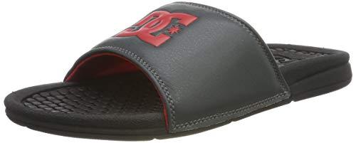 DC Shoes Bolsa, Scarpe da Spiaggia e Piscina Uomo, Grigio (Black/Grey/Red XKSR), 40.5 EU