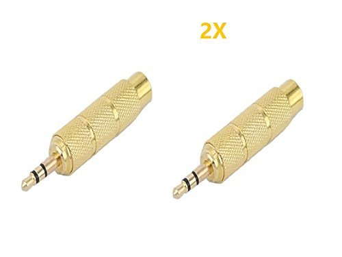Honeysuck Mikrofon Stereo-Audio-Konverter 3,5mm Stecker auf 6,5mm Buchse (Gold)