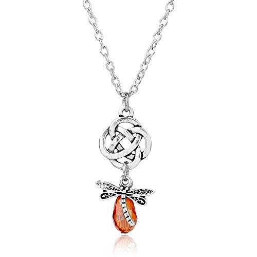 DADATU Halsketten für Herren Film Schmuck Outlander Halsketten DIY Charm Pendant Halskette Bead Crystal Dragonfly Pendants Halskerin Geschenk Für Frauen (Dragonfly Mann Kostüm)