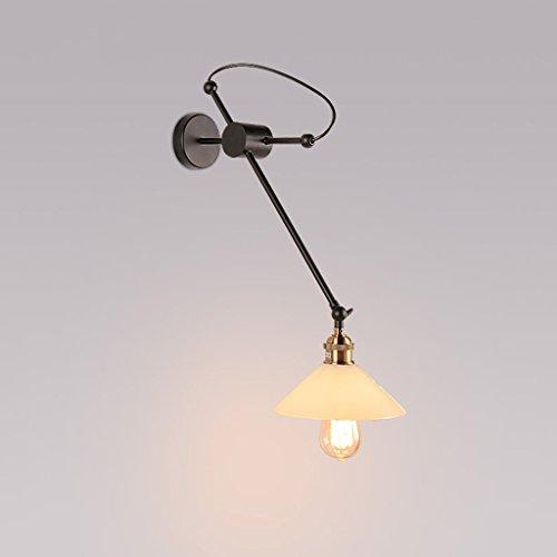 Applique Industriel Rétro Travail Chambre Lampe De Chevet Corridor Restaurant Mur Fer Forgé Réglable en fer lampe murale A+