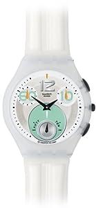 Swatch SUYW100 - Reloj unisex de cuarzo, correa de goma color blanco de Swatch