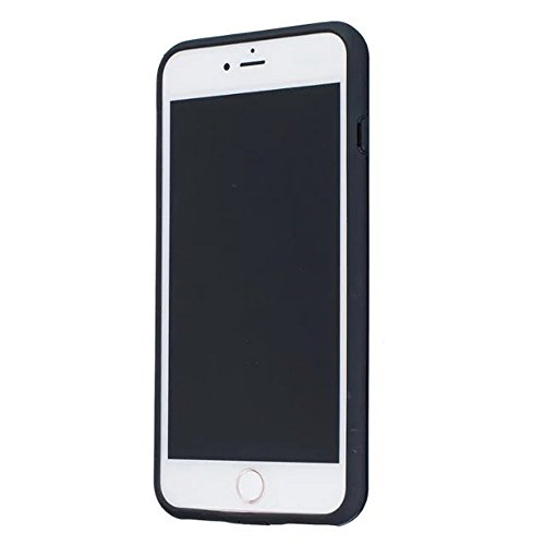JIALUN-Telefon Fall Solid Color Shock Back Cover Telefon Fall für Apple IPhone 7 Plus 5,5 Zoll ( Color : Silver ) Black