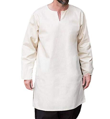 Hellomiko Männer Casual Thobe Arab Muslim Wear Wadenlangen Roben
