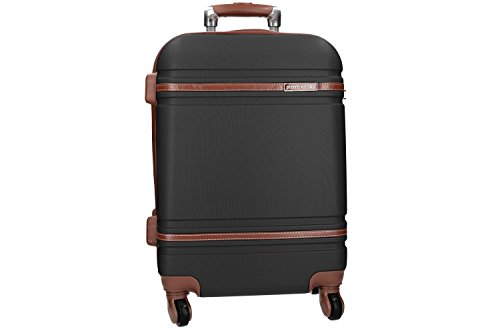 Maleta rígida PIERRE CARDIN negro mini equipaje de mano ryanair 4 ruedas VS161