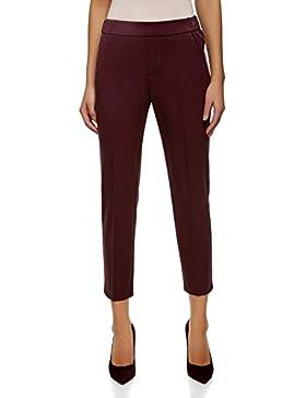oodji Ultra Mujer Pantalones Ajustados con Elástico